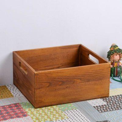 zakka实木收纳盒实木收纳盒复古实木盒子杂货储物托盘桌面收纳盒