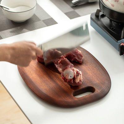 进口乌檀木菜板实木砧板无漆整木切菜板家用抗菌防霉厨房不裂案板