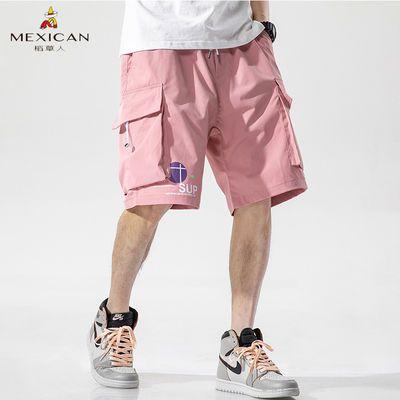 Mexican稻草人短裤子男潮流夏季运动潮牌休闲学生韩版工装五分裤