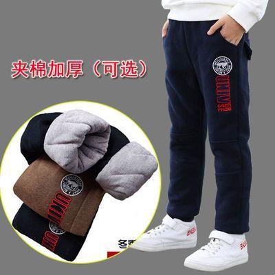 男童棉裤加绒儿童加厚保暖裤冬装中大童运动裤子男孩12外穿长裤15