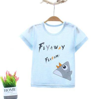 儿童短袖t恤宝宝夏装女童上衣 男童装韩版婴儿半袖竹纤维夏季小童