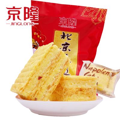 【热卖】京隆拿破仑蛋糕奶油夹心手撕面包美味休闲茶点千层糕点零