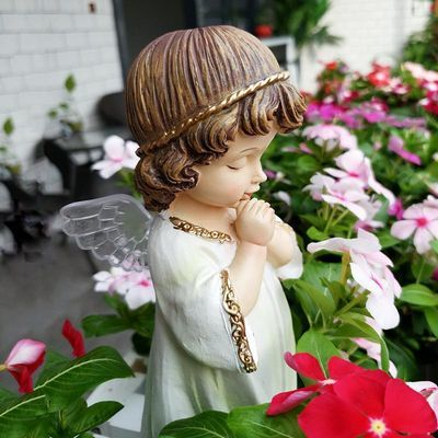 花园摆件 户外 庭院花架装饰小摆件园艺装饰品树脂小天使娃娃摆件