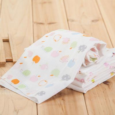 【10条装】纱布口水巾纯棉婴儿洗脸毛巾宝宝小方巾儿童手帕喂奶巾