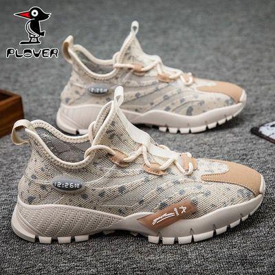 PLOVER啄木鸟2020夏季薄款透气运动跑鞋男百搭潮鞋学生休闲网面鞋