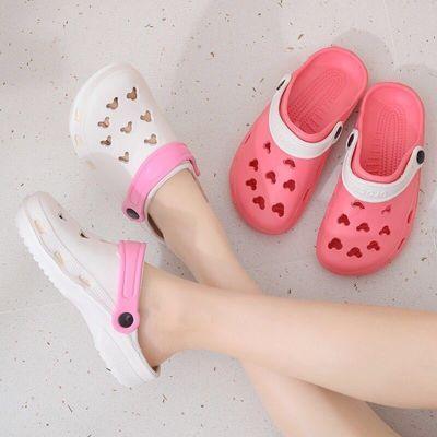 夏包头塑料医用凉拖鞋防水两用沙滩洞洞鞋防滑海边护士凉鞋拖男女