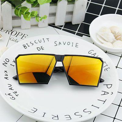 新款大方框太阳眼镜欧美男士炫彩眼镜 时尚复古墨镜潮流太阳镜