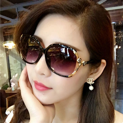 偏光太阳镜女潮复古大框墨镜明星款墨镜防紫外线圆脸长脸时尚眼镜