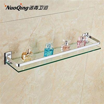 太空铝浴室置物架 卫生间壁挂单层毛巾架洗手间卫浴架玻璃置物架