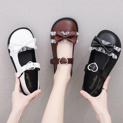 小皮鞋女秋季2020韩版新款百搭学院风学生平底复古玛丽珍大头鞋女