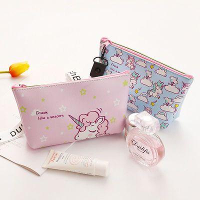 韩国可爱少女化妆包小号防水大容量洗漱收纳包学生旅行便携零钱包
