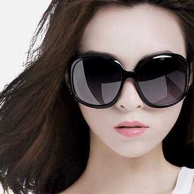 韩版时尚太阳镜女新款百搭复古偏光镜大框驾驶太阳眼镜潮墨镜女