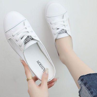2020新款网红懒人防滑半拖鞋女夏外穿镂空小白鞋学生韩版女士凉鞋