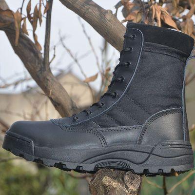 特种兵沙漠作战靴男超轻陆战高帮战术靴作训军靴春季透气军鞋正品