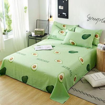 36508/100%全棉床单单件夏季纯棉被单学生宿舍0.9m1.2单人床双人床1.8床