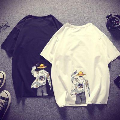 余文乐潮牌T恤2020夏季新款短袖衣服男日系韩版休闲男士情侣半袖