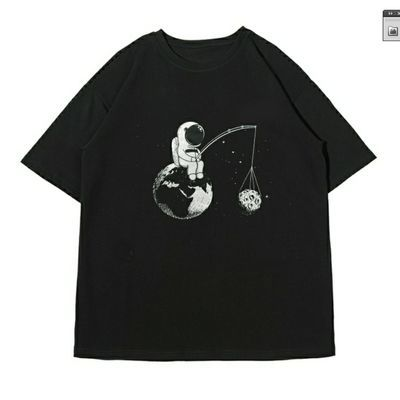 sky&wind男女款短袖T恤2020款ins风BF风潮流印花上衣