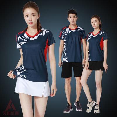 羽毛球衣服套装男女款速干透气短袖乒乓球运动比赛训练服定制印字