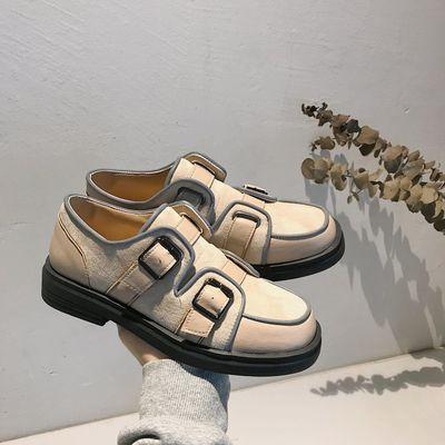 2020春新款小皮鞋女学生韩版百搭英伦学院风复古软妹可爱平底单鞋