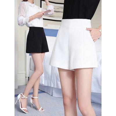 高腰a字阔腿短裤女夏2020新款韩版宽松白色休闲西装短裤百搭显瘦