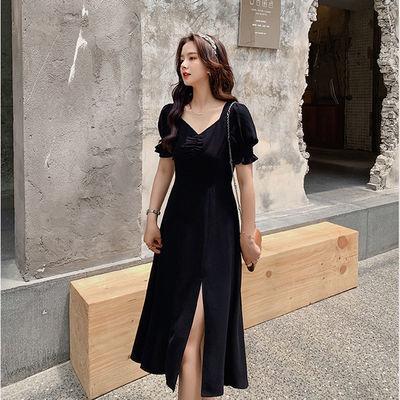 大码女装200斤气质优雅连衣裙胖mm夏装新款收腰遮肉减龄显瘦a字裙