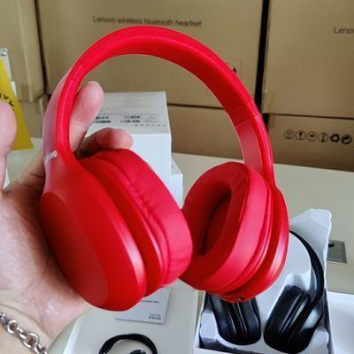 全新联想耳机5折包邮红黑色蓝牙5.05主动降噪耳双边立体声带通话