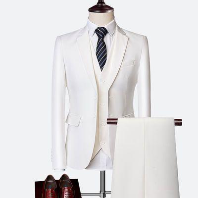 结婚西服套装男新郎服装正装男士商务韩版修身礼服团体三件套西装