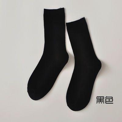 蓝色袜子女韩国宝蓝色高腰长薄款韩版夏天绿色糖果色彩色堆堆袜潮