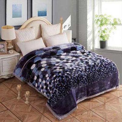 毛毯拉舍尔冬季加厚盖毯双层保暖婚庆毯床单毯双面绒毯单双人毯子