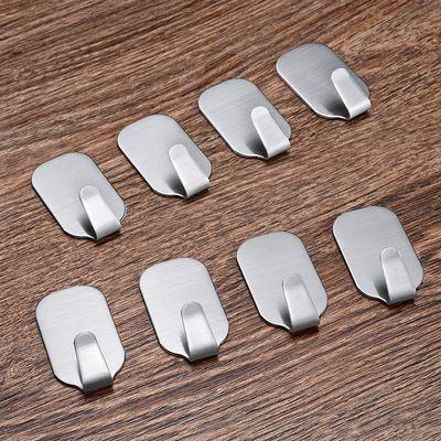 壁挂钩子304不锈钢挂钩强力粘胶免打钉孔厨房浴室卫生间粘钩墙上