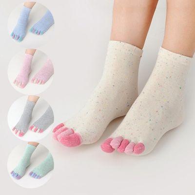 2/3/5/6双五指袜女士薄款春夏季中筒袜纯棉吸汗防臭防脚气五趾袜
