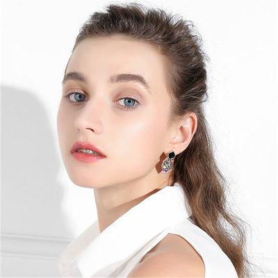 耳环2020年新款潮女高级感大气网红耳钉韩国耳饰气质复古925银针