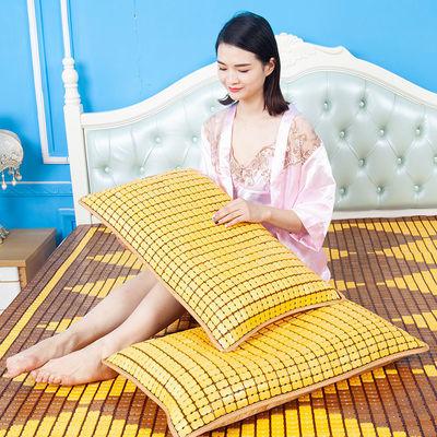 夏季麻将枕头枕套儿童成人学生单双人竹席枕垫一个装