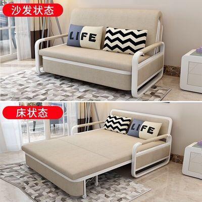折叠沙发床两用小户型客厅布艺双人三人多功能现代乳胶布艺沙发床
