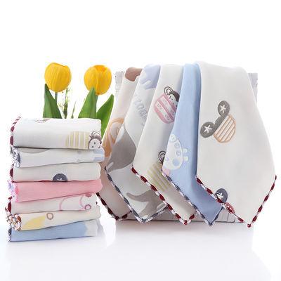 《3/5条装》6层纱布纯棉方巾口水巾25*25婴儿洗脸巾喂奶巾手帕