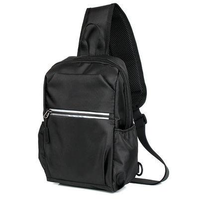 胸包男包大容量单肩斜挎包水杯包休闲时尚胸前包挎包牛津布小背包