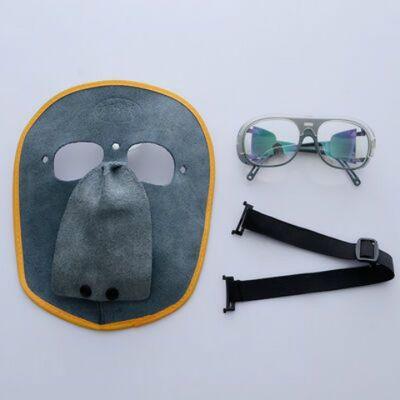 氩弧帽子头具眼调节简易电焊面罩眼镜油烟光面焊机工用变色高温