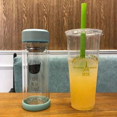 韩国猫咪杯子单双层防烫保温玻璃杯女花茶杯带盖便携创意可爱水杯