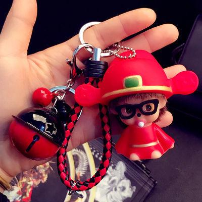 韩国卡通可爱蒙奇奇钥匙扣创意男女汽车公仔钥匙链圈情侣包包挂件