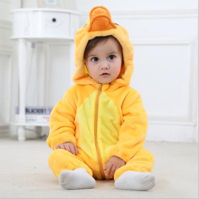 0-3岁春秋款法兰绒婴儿连体衣 宝宝可爱动物造型衣服新生儿爬爬服