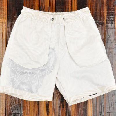 沙滩裤男 法牛狗狗印花速干短裤 海边度假宽松五分裤休闲运动裤