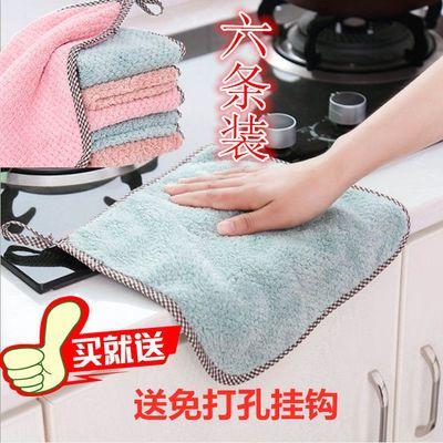 洁布吸水抹布洗碗布可挂式抹布 吸水不易掉毛擦手巾无水印厨房百
