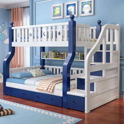 上下床实木儿童床高低床双人床双层床上下铺子母床儿童床多功能