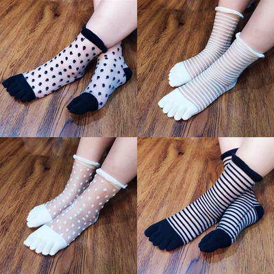 (3-10双)五指袜女棉春夏防臭吸汗分指袜短筒女士五趾袜子男分趾袜