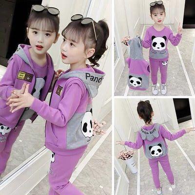 女童秋装套装2020年儿童新款中大童运动女孩童装卫衣三件套6-12岁