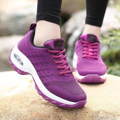 特价款春夏季中年女鞋妈妈鞋厚底气垫散步鞋防滑登山鞋坡跟运动鞋