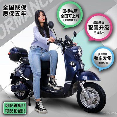 时尚新款自行车成人电瓶双人小型锂电男女性长跑王代步踏板电动车