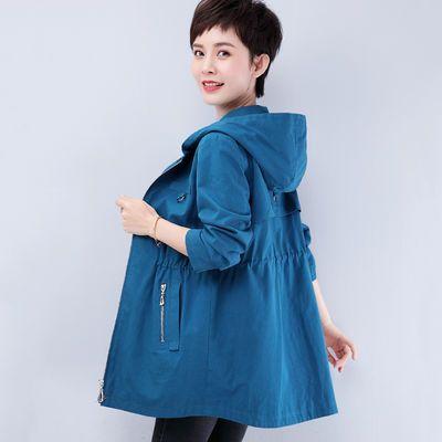 短外套女春秋季韩版大码女装新款休闲洋气中老年轻妈妈装夹克外套