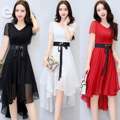 夏季修身连衣裙2020夏装新款女装韩版显瘦中长款小香风裙子女