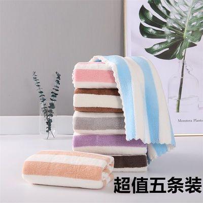 新款五条装珊瑚绒毛巾成人儿童日用洗脸巾比纯棉吸水洗澡毛巾批发